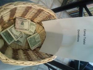 Camp Talahi Donation Basket