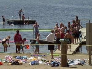 Camp Talahi waterfront on Lake Chenago